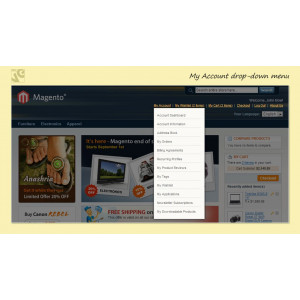My Account drop-down menu