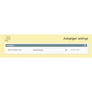 Autopager settings