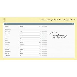 Cloud Zoom configurations